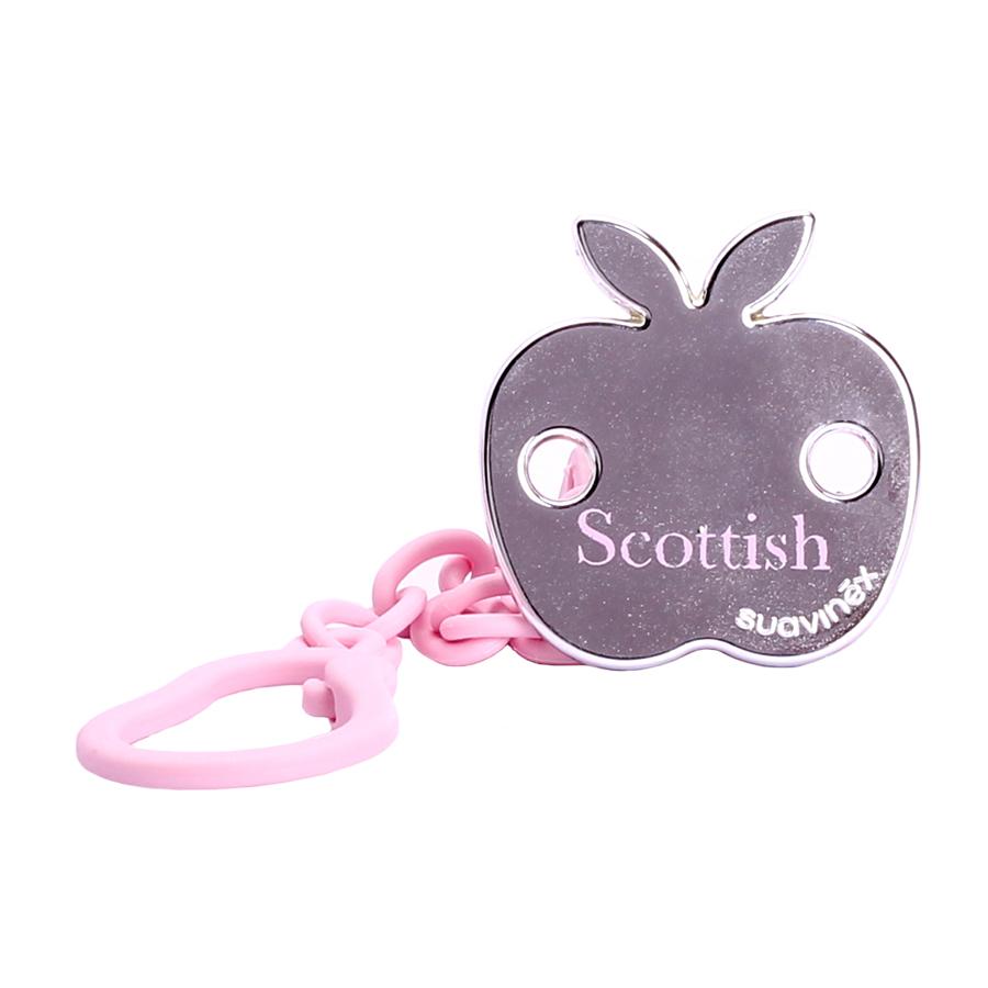 купить Suavinex Держатель соски-пустышки Scottish с зажимом цвет розовый по цене 609 рублей