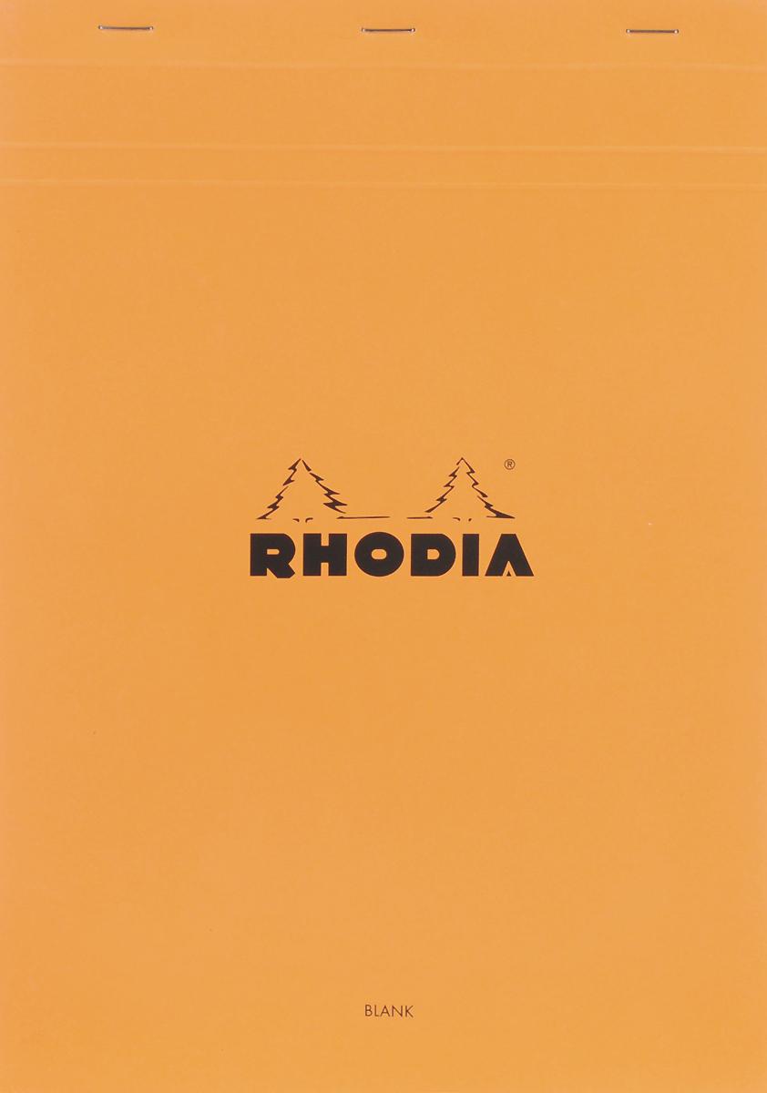 Блокнот Clairefontaine Rhodia, с микроперфорацией, формат A4, цвет обложки: оранжевый, 80 листов18000СБлокнот Clairefontaine Rhodia универсального использования с микроперфорацией и отрывными листами. Параметры:блокнот-склейка на скобах;формат А 4 (21 х 29,7 см);плотность 80гр/м2;цвет бумаги: белый.