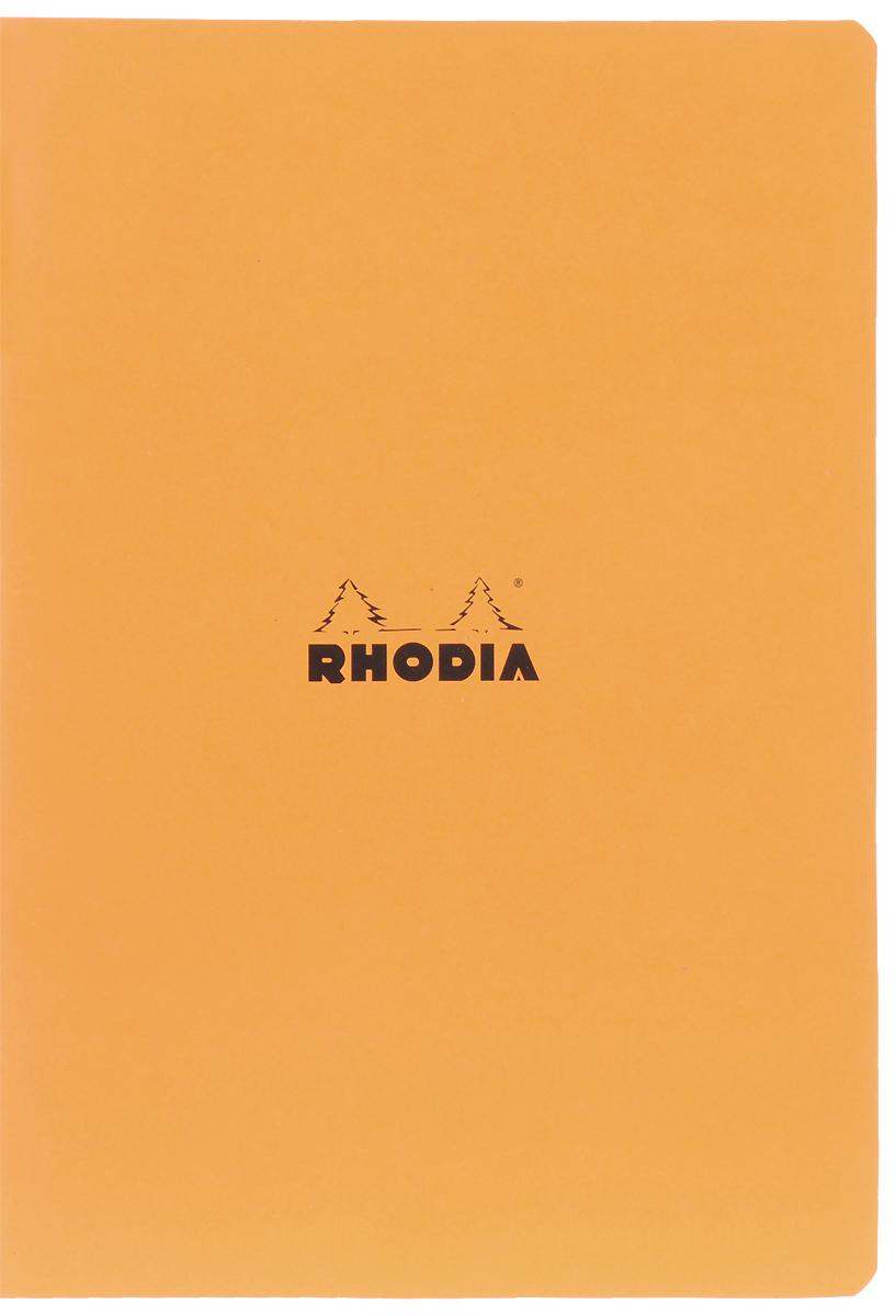 """Тетрадь Clairefontaine """"Rhodia"""", в линейку, формат A4, цвет обложки: оранжевый, 48 листов"""