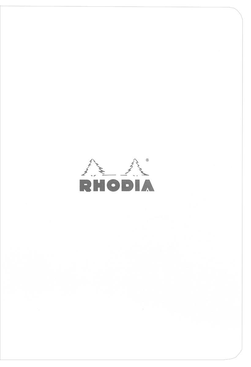 """Тетрадь Clairefontaine """"Rhodia"""", в линейку, формат A5, цвет обложки: белый, 48 листов"""
