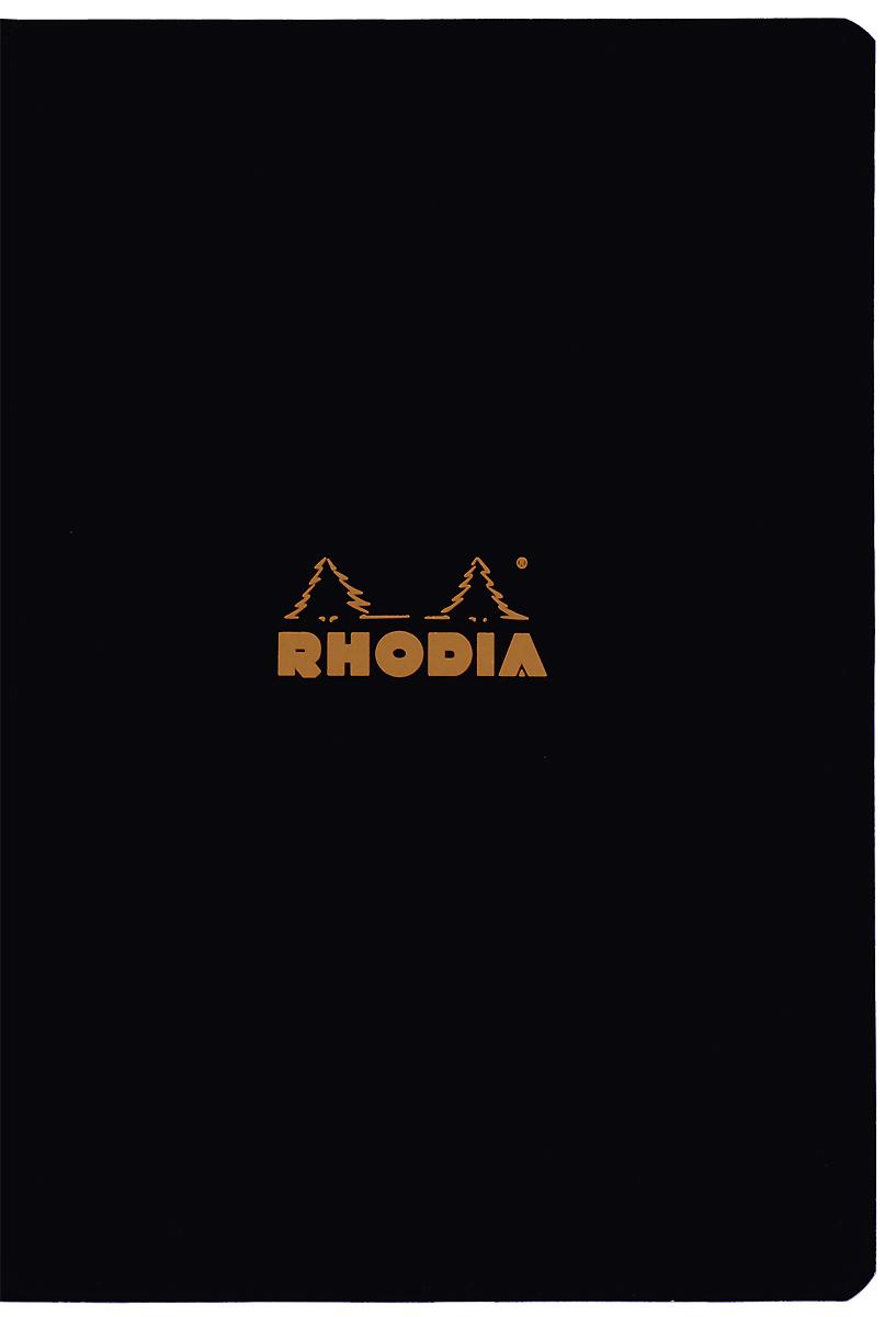 """Тетрадь Clairefontaine """"Rhodia"""", в линейку, формат A5, цвет обложки: черный, 48 листов"""