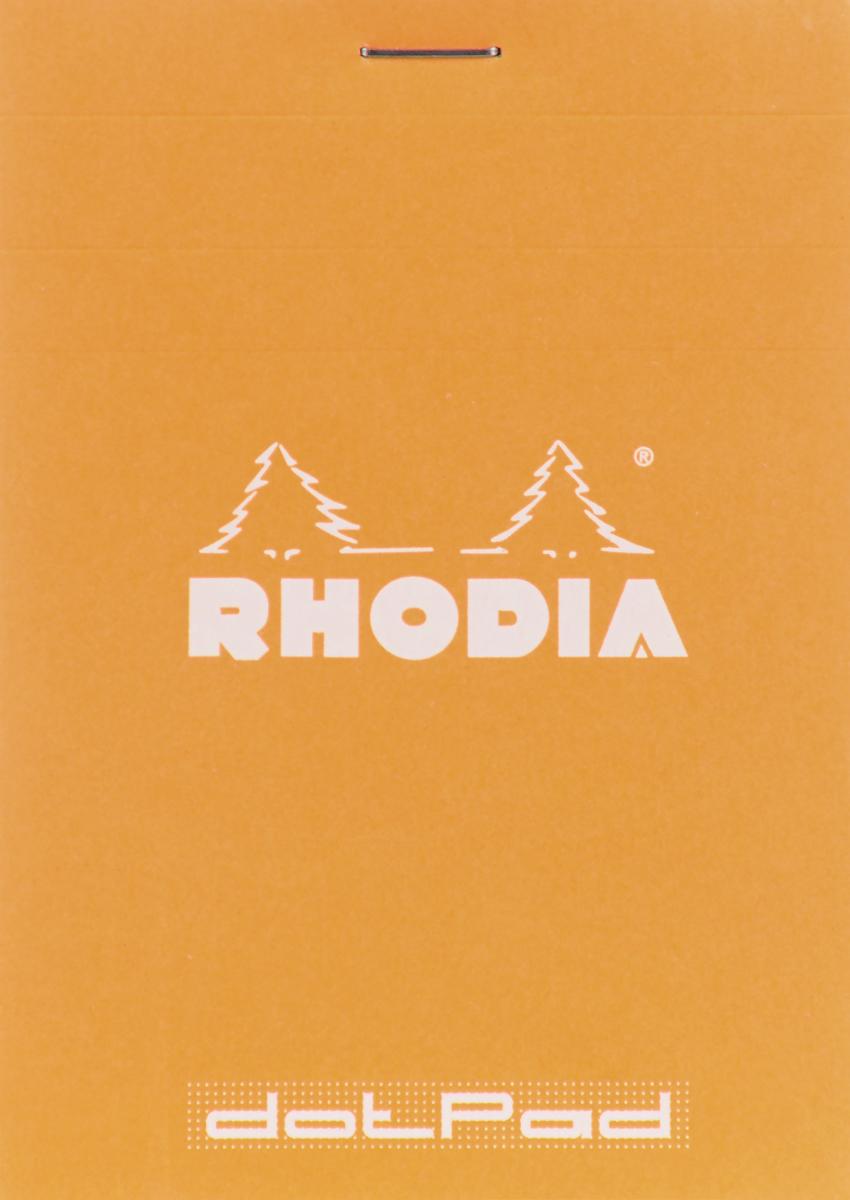 Блокнот Clairefontaine Rhodia, с микроперфорацией, 8,5 х 12 см блокнот clairefontaine rhodia точки формат a6 цвет обложки оранжевый 96 листов