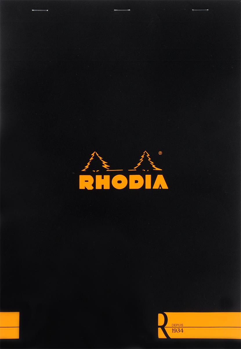Блокнот Clairefontaine Rhodia, с микроперфорацией, формат A4, цвет обложки: черный, 70 листов182008СБлокнот Clairefontaine Rhodia универсального использования с микроперфорацией и отрывными листами. Параметры:блокнот-склейка на скобах;формат А 4 (21 х 29,7 см);плотность 80гр/м2;цвет бумаги: слоновая кость.