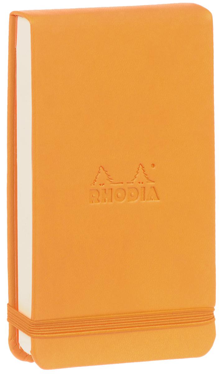 Блокнот Clairefontaine Rhodia, точки, формат A6, цвет обложки: оранжевый, 96 листов holy land очищающая эмульсия holy land vitalise cleanser 160114 100 мл