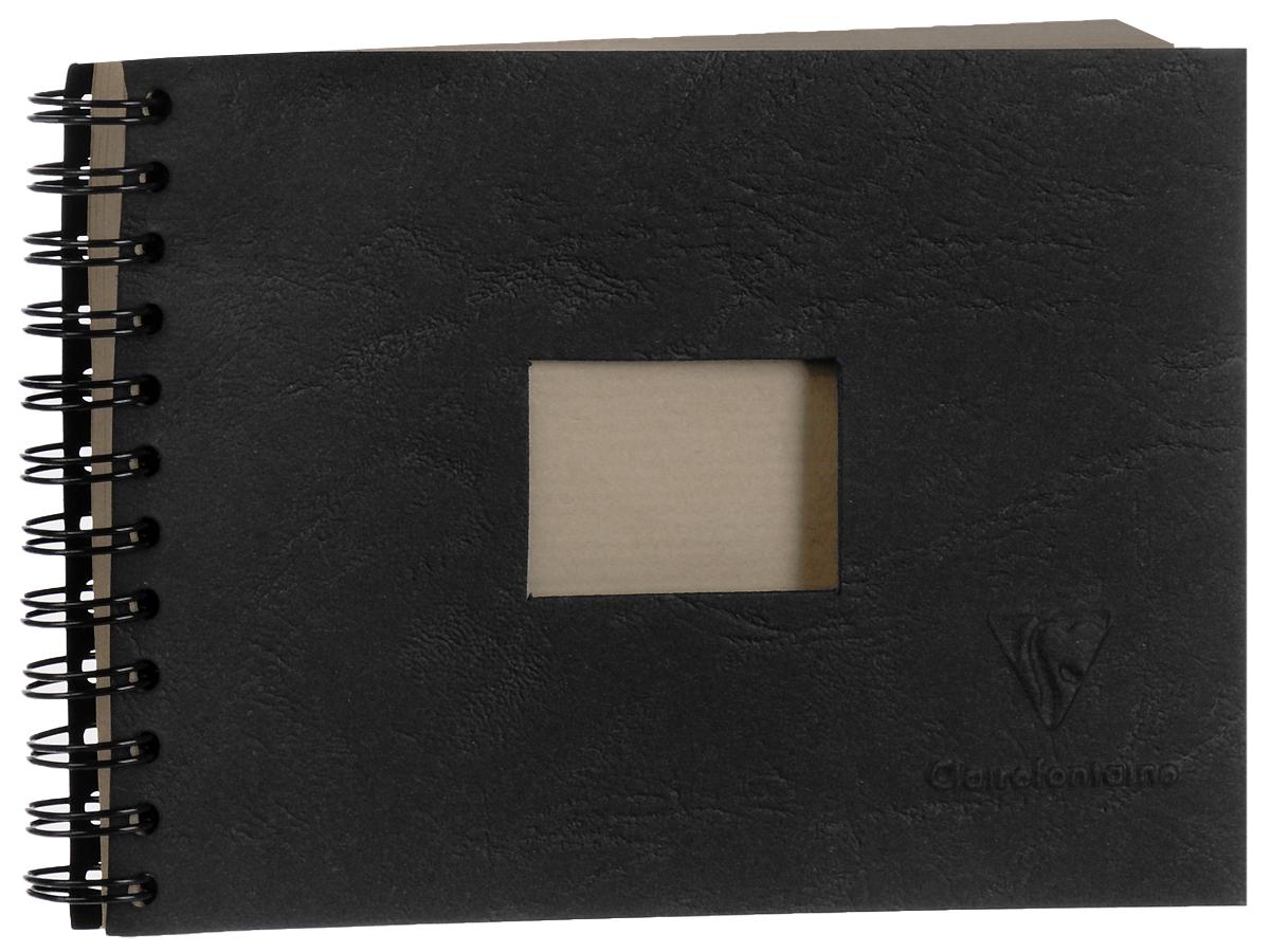 Блокнот Clairefontaine Kraft, на спирали, формат A6, 60 листов8370СБлокнот Clairefontaine Kraft можно использовать для сухих техник, а также для печати. Обложка изготовлена из черного картона с квадратной вырубкой,спираль по короткой стороне. Блокнот наполнен плотным текстурированным крафтом.Параметры:10,5 x 14,8 см (формат А6);60 листов;плотная текстурированная крафт-бумага - 90 гр/м2;переплет - спираль по короткой стороне;черная обложка с квадратной вырубкой на лицевой стороне;индивидуальная полиэтиленовая упаковка.
