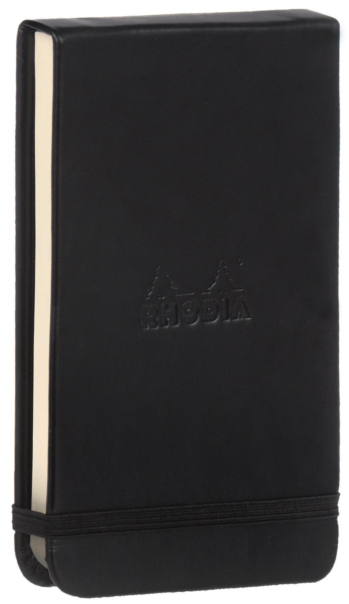 Блокнот Clairefontaine Rhodia, точки, формат A6, цвет обложки: черный, 96 листов блокнот clairefontaine rhodia точки формат a6 цвет обложки оранжевый 96 листов