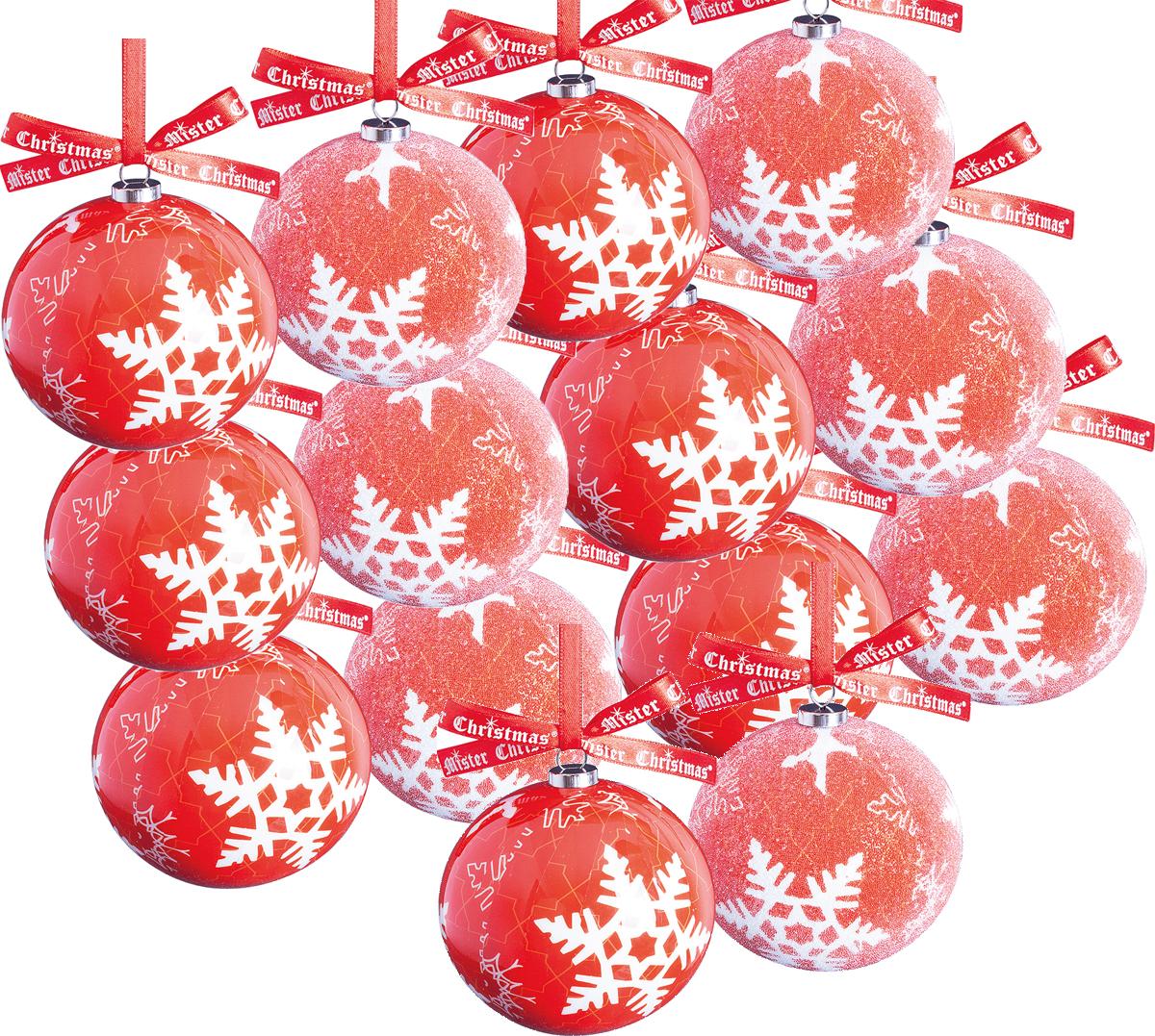 Набор новогодних подвесных украшений Mister Christmas Папье-маше, диаметр 7,5 см, 14 шт. PM-31-14PM-31-14Набор Mister Christmas Папье-маше состоит из 14подвесных украшений ручной работы, изготовленных втехнике папье-маше. Такие шары очень легкие, но в то жевремя удивительно прочные. На создание одной такойигрушки уходит несколько дней. И в результате получаетсянастоящее произведение искусства!Все изделия оснащены атласной ленточкой с логотипомбренда Mister Christmas для подвешивания.Такие украшения станут превосходным подарком кНовому году, а также дополнят коллекцию оригинальныхновогодних елочных игрушек.