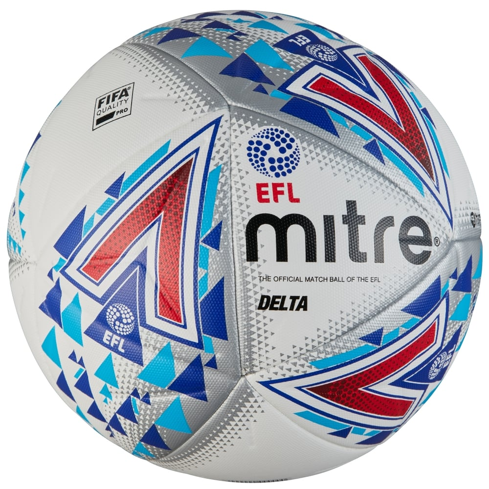 Мяч футбольный Mitre Delta Fifa Pro Hyperseam English Football League. Размер 5. ВВ2018WHU футболка mitre футболка игровая mitre modena взрослая