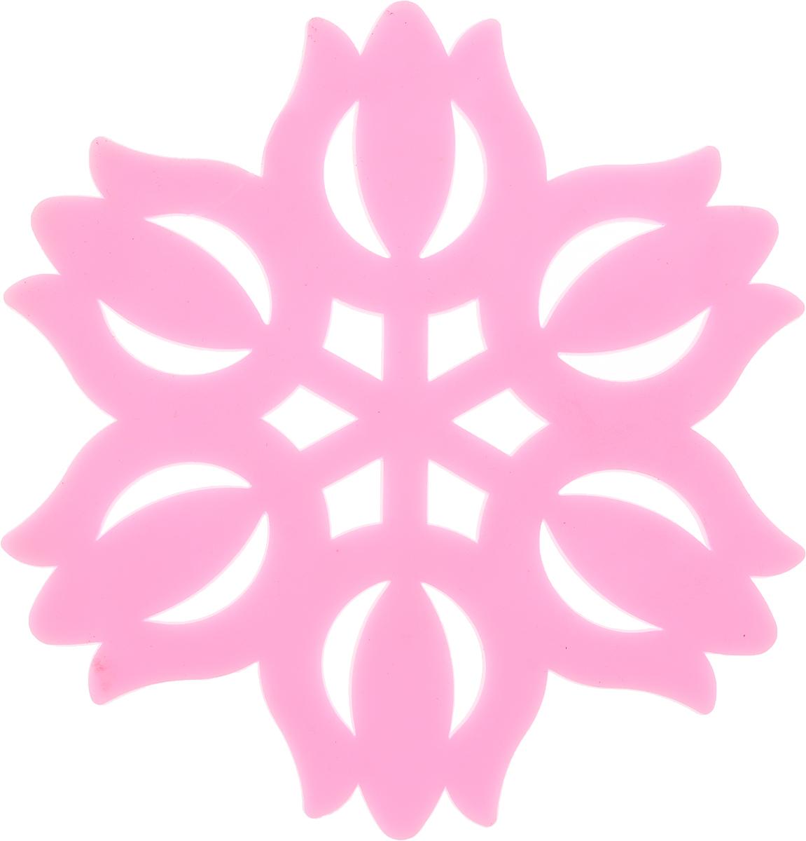Подставка под горячее Доляна Тюльпан, цвет: розовый, диаметр 11 см811889_розовыйСиликоновая подставка под горячее - практичный предмет, который обязательно пригодится в хозяйстве. Изделие поможет сберечь столы, тумбы, скатерти и клеёнки от повреждения нагретыми сковородами, кастрюлями, чайниками и тарелками.Необычный дизайн и яркий цвет этой подставки не только порадует глаз, но и украсит вашу кухню!