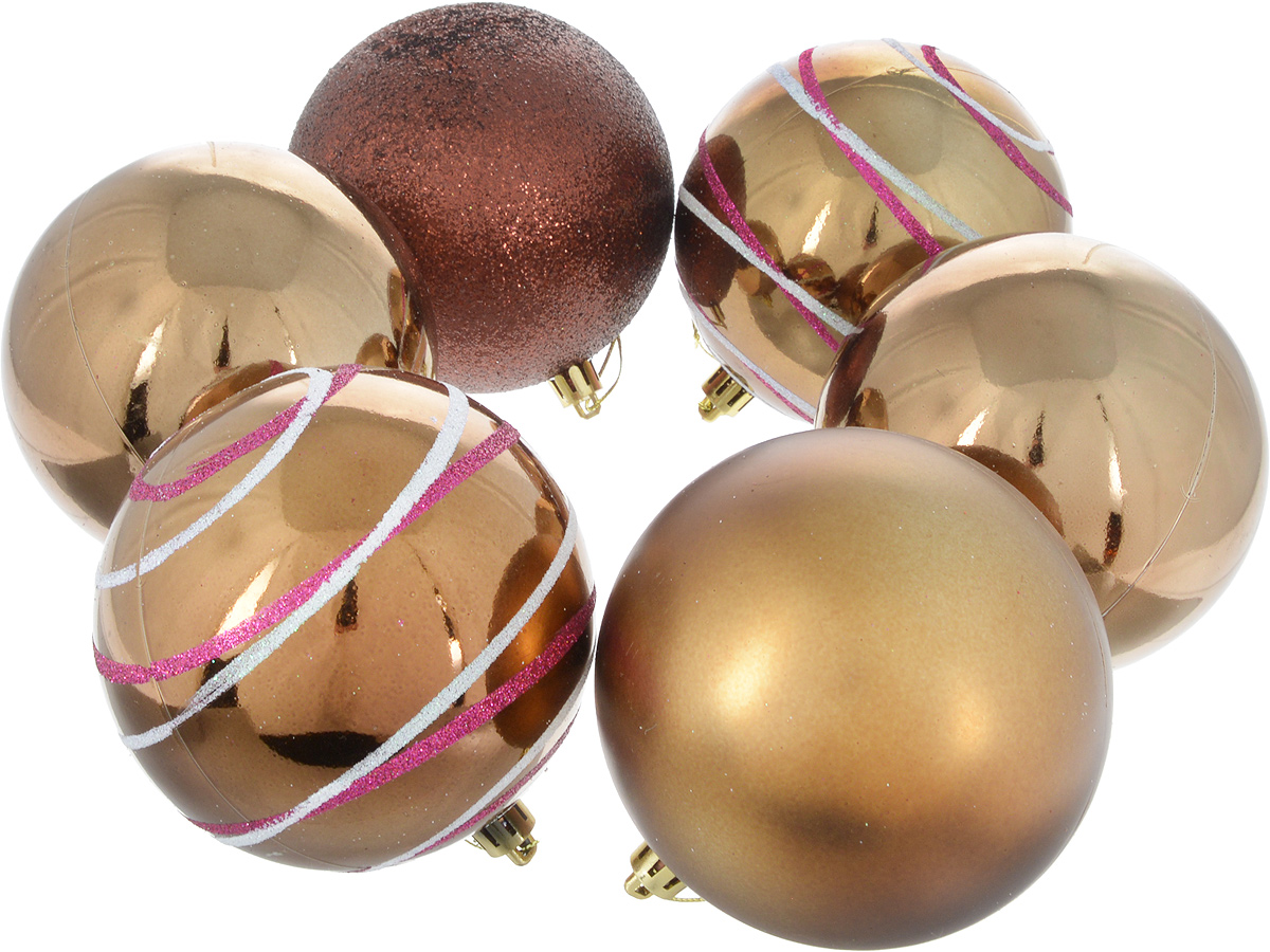 Набор новогодних подвесных украшений Sima-land Орион, цвет: шоколадный, диаметр 10 см, 6 шт2178441