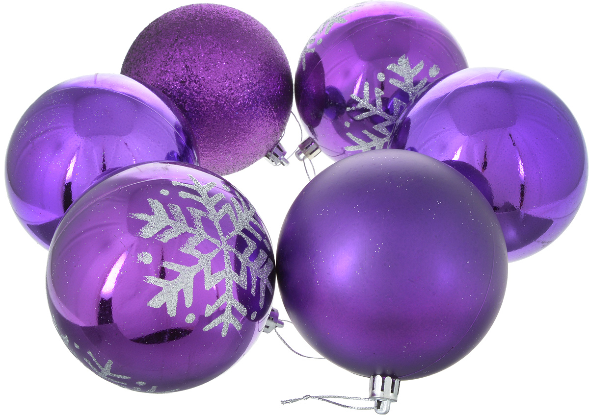 Набор новогодних подвесных украшений Sima-land Снежинка капель, цвет: фиолетовый, диаметр 10 см, 6 шт2178436Набор новогодних подвесных украшений Sima-land отлично подойдет для декорации вашего дома и новогодней ели. С помощью специальной петельки украшение можно повесить в любом понравившемся вам месте. Но, конечно, удачнее всего оно будет смотреться на праздничной елке. Елочная игрушка - символ Нового года. Она несет в себе волшебство и красоту праздника. Создайте в своем доме атмосферу веселья и радости, украшая новогоднюю елку нарядными игрушками, которые будут из года в год накапливать теплоту воспоминаний.