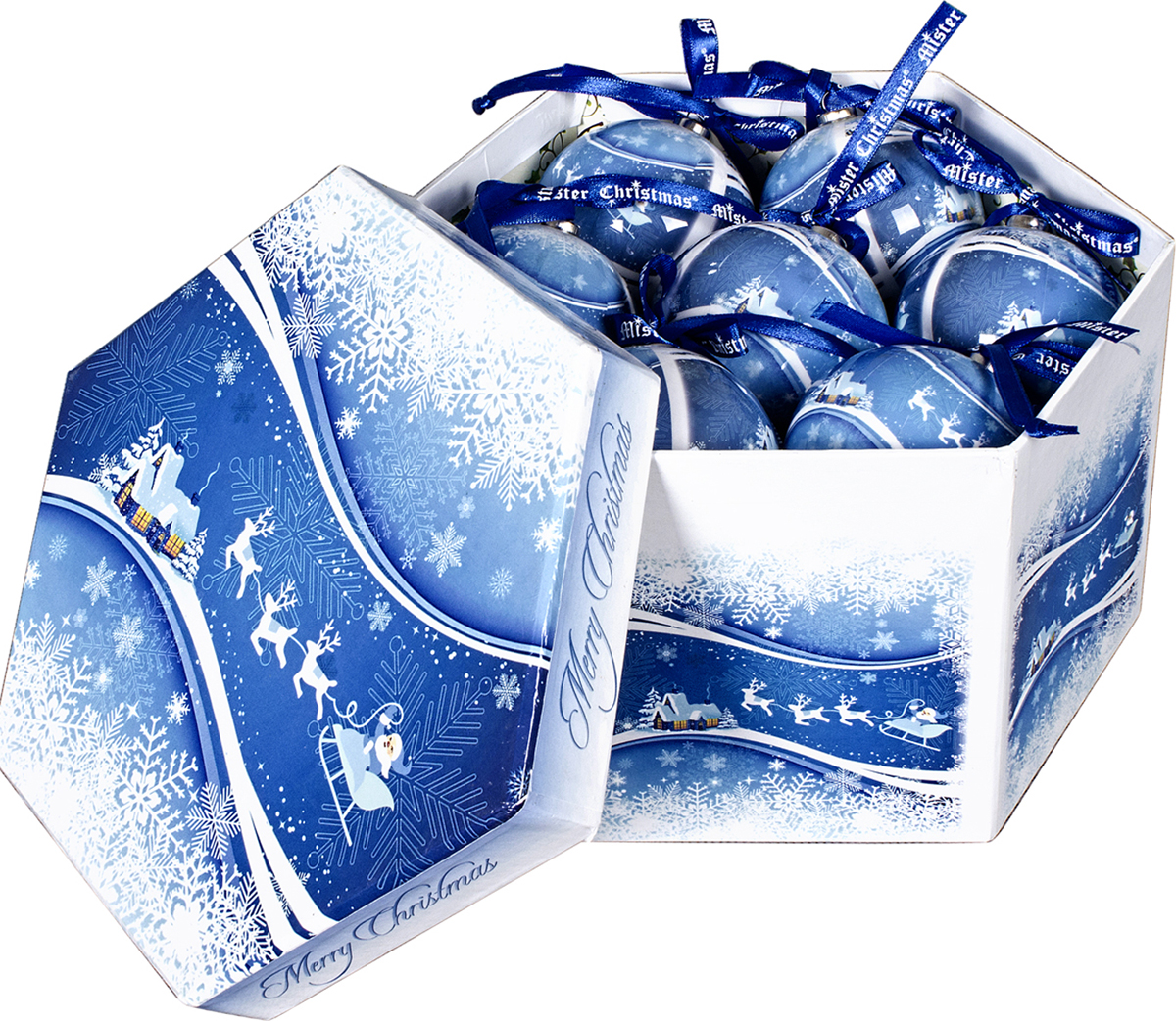 Набор новогодних подвесных украшений Mister Christmas  Папье-маше , диаметр 7,5 см, 14 шт. PM-40-14 -  Украшения