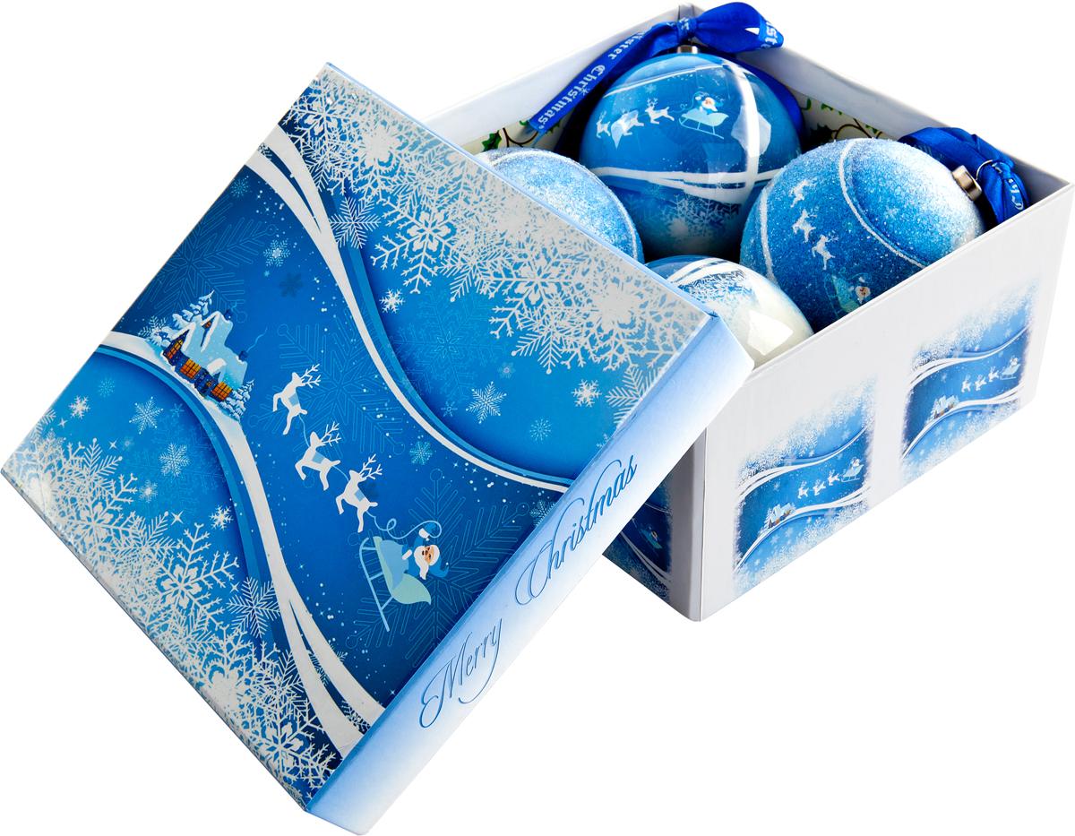Набор новогодних подвесных украшений Mister Christmas Папье-маше, диаметр 7,5 см, 4 шт. PM-40-4PM-40-4Набор из 4 подвесных украшений Mister Christmas Папье-маше прекрасно подойдет для праздничного декора новогодней ели. Изделия, выполненные из бумаги и покрытые несколькими слоями лака, очень прочные и легкие. Такие шары создадут единый стиль в оформлении не только ели, но и интерьера вашего дома. В наборе игрушки имеют глянцевую поверхность и покрытые мелкой пластиковой крошкой. Все изделия оснащены атласной ленточкой с логотипом бренда Mister Christmas для подвешивания. Такие украшения станут превосходным подарком к Новому году, а также дополнят коллекцию оригинальных новогодних елочных игрушек.