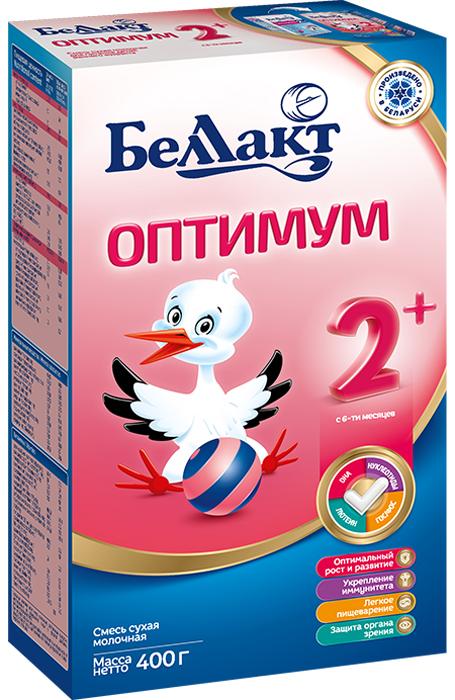 Беллакт Оптимум 2+ смесь молочная сухая с 6 месяцев, 400 г беллакт оптимум 2 молочная смесь для питания с 6 мес 350 г