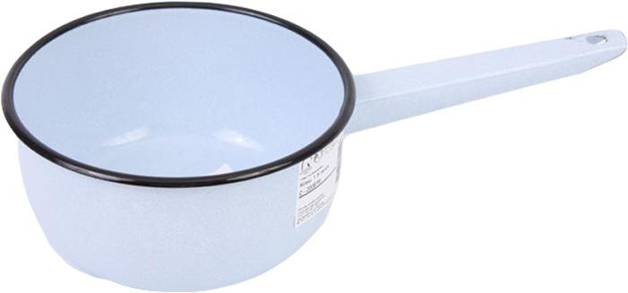 """Ковш """"Лысьвенские эмали"""" изготовлен из высококачественной стали с эмалированным  покрытием. Эмалевое покрытие, являясь стекольной массой, не вызывает аллергию и  надежно защищает пищу от контакта с металлом. Кроме того, такое покрытие долговечно,  оно устойчиво к механическому воздействию, не царапается и не """"сходит"""", а стальная  основа практически не подвержена механической деформации, благодаря чему срок  эксплуатации увеличивается.  Подходит для всех типов плит, включая индукционные.  Можно мыть в посудомоечной машине. Высота ковша: 8 см. Диаметр ковша (по верхнему краю): 16 см. Длина ручки: 16 см."""