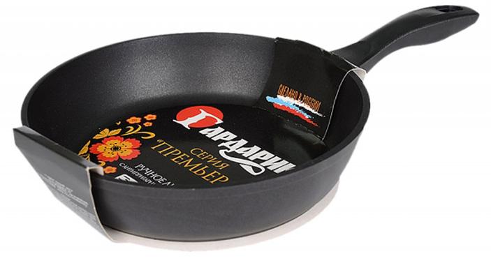 Сковорода для блинов Гардарика, с антипригарным покрытием, цвет: черный. Диаметр 22 см сковорода hoffmann диаметр 22 см нм 7922