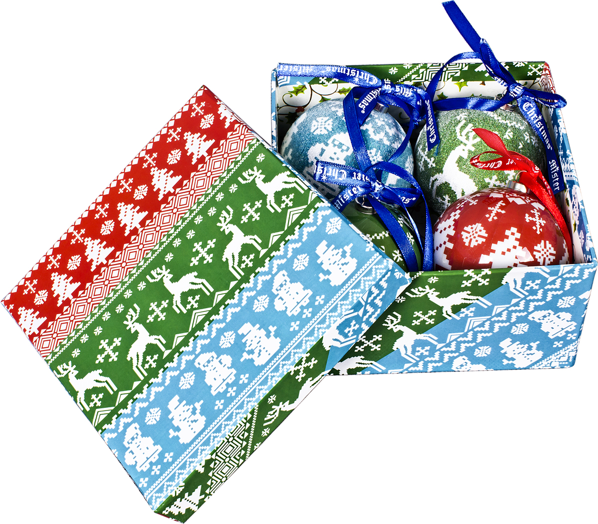 Набор новогодних подвесных украшений Mister Christmas Папье-маше, диаметр 7,5 см, 4 шт. PM-43-4PM-43-4Набор из 4 подвесных украшений Mister Christmas Папье-маше прекрасно подойдет для праздничного декора новогодней ели. Изделия, выполненные из бумаги и покрытые несколькими слоями лака, очень прочные и легкие. Такие шары создадут единый стиль в оформлении не только ели, но и интерьера вашего дома. В наборе игрушки имеют глянцевую поверхность и покрытые мелкой пластиковой крошкой. Все изделия оснащены атласной ленточкой с логотипом бренда Mister Christmas для подвешивания. Такие украшения станут превосходным подарком к Новому году, а также дополнят коллекцию оригинальных новогодних елочных игрушек.