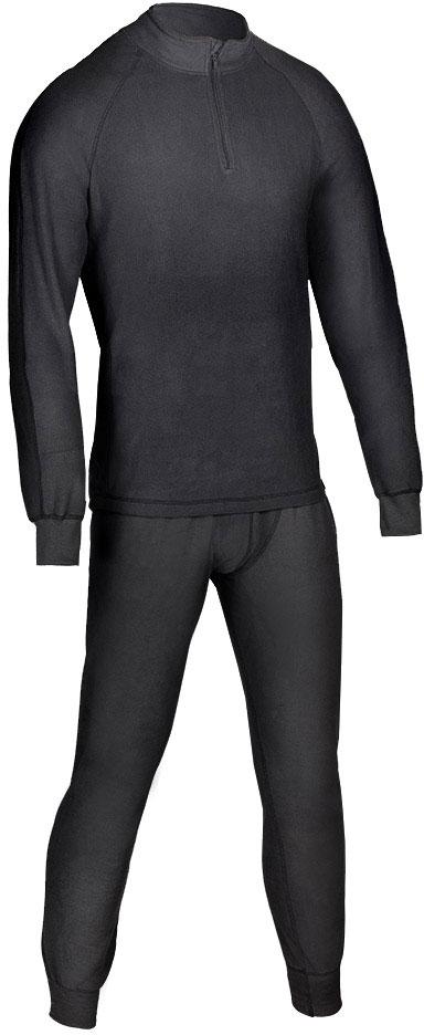 Комплект термобелья мужской Huntsman ZIP: брюки, кофта, цвет: черный. h_100_zip-901. Размер XXL (56/58)h_100_zip-901Термобелье ThermoLine ZIP от Huntsman второго слоя предназначено для использования в критически низких температурах до - 40°С. Комплект состоит из кофты с длинным рукавом и брюк, выполненных из микрофлиса. Кофта с воротником-стойкой дополнена застежкой на молнию. Материал удерживает до 85% полезного тепла, гипоаллергенен. Уникальная технология без внутреннего шва обеспечивает комфортную носку. Термобелье позволяет сократить вес экипировки до 30%. Использование термобелья наиболее эффективно с термобельем первого слоя и мембранными костюмами.