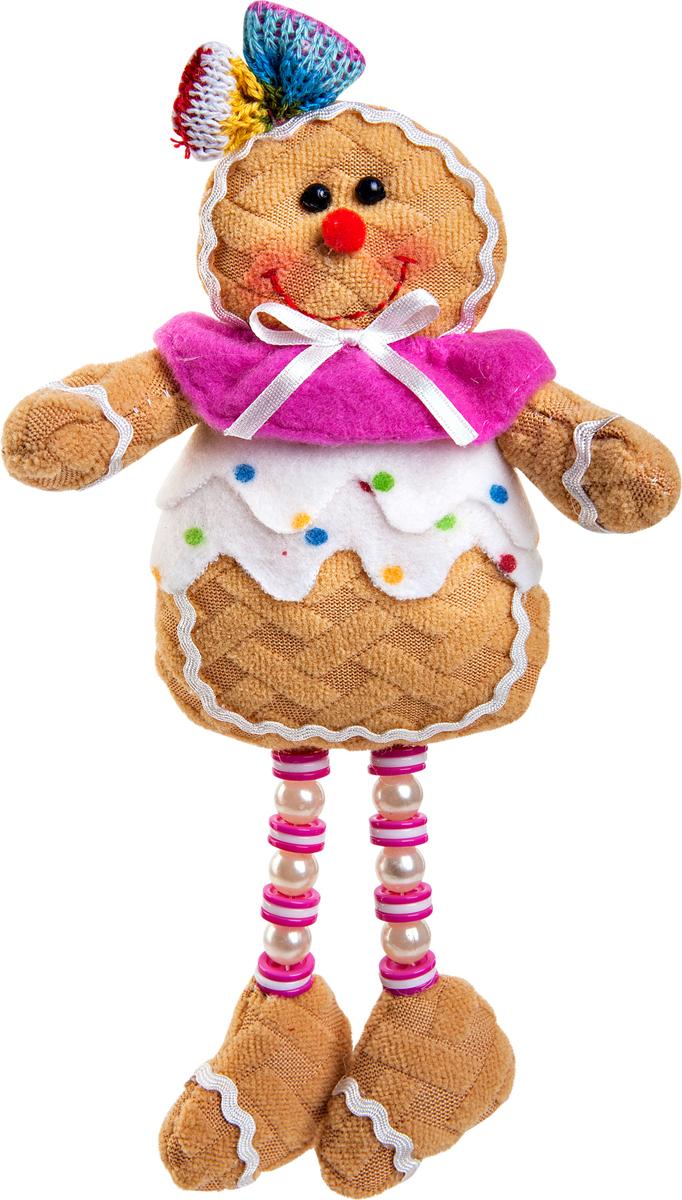 Игрушка новогодняя Mister Christmas Пряничная девочка. SPP-12-WSPP-12-WНовогодняя игрушка Mister Christmas Пряничная девочка, изготовленная из текстиля, прекрасно подойдет для праздничного декора дома. Изделие можно разместить в любом понравившемся вам месте. Новогодняя игрушка несет в себе волшебство и красоту праздника. Создайте в своем доме атмосферу веселья и радости, украшая дом красивыми игрушками, которые будут из года в год накапливать теплоту воспоминаний.