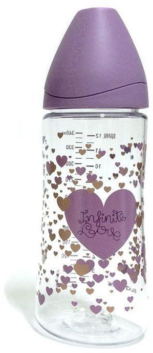 Suavinex Бутылочка Haute Couture от 0 месяцев с силиконовой соской цвет сиреневый 360 мл бутылочки для кормления suavinex бутылка suavinex 150мл haute couture от 0мес с анатомич силиконовой соской