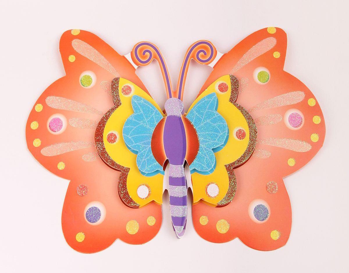 Наклейка декоративная Magic Home Бабочка, цвет: красный, 35,5 х 25 см. 31827