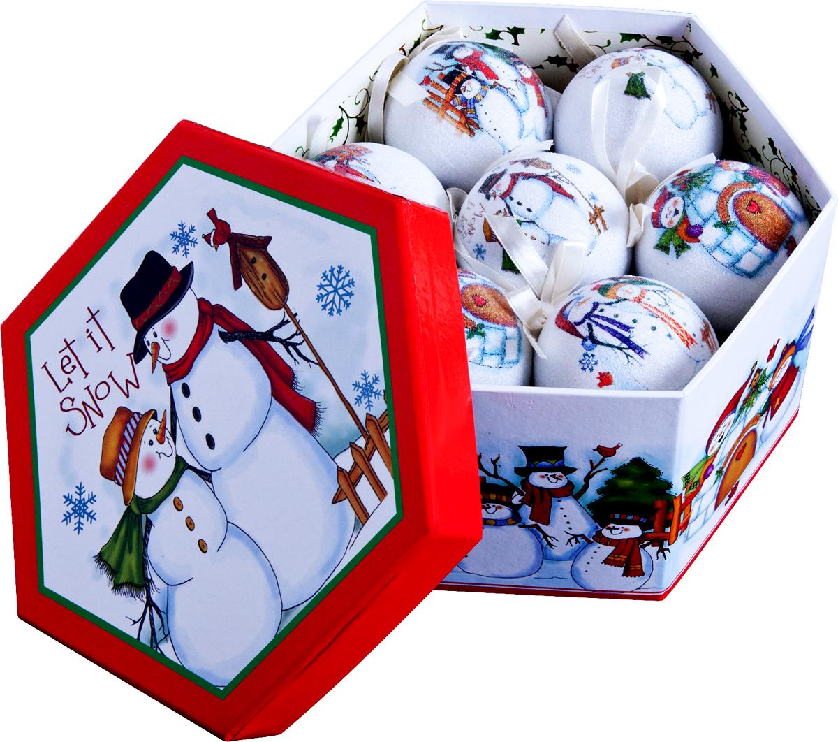 Набор новогодних подвесных украшений Mister Christmas Папье-маше, диаметр 7,5 см, 14 шт. PM-25-14PM-25-14Набор Mister Christmas Папье-маше состоит из 14подвесных украшений ручной работы, изготовленных втехнике папье-маше. Такие шары очень легкие, но в то жевремя удивительно прочные. На создание одной такойигрушки уходит несколько дней. И в результате получаетсянастоящее произведение искусства!Все изделия оснащены атласной ленточкой с логотипомбренда Mister Christmas для подвешивания.Такие украшения станут превосходным подарком кНовому году, а также дополнят коллекцию оригинальныхновогодних елочных игрушек.