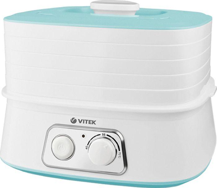 Vitek 5053(W), White сушилка для овощей и фруктовVT-5053(W)Сушилка для овощей VITEK VT-5053 W характеристики Индикатор включения: даКоличество секций: 5Материал корпуса: пластикМощность: 250 ВтОбъем одной секции: 1 л Терморегулятор: да Тип управления: механическое