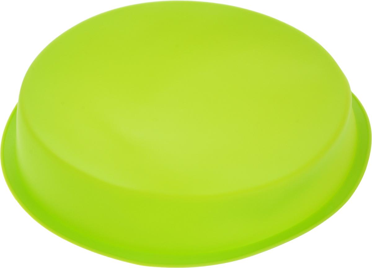 Форма для выпечки Доляна Круг, силиконовая, цвет: зеленый, диаметр 22 см1000345 _зеленыйФорма Доляна Круг изготовлена из силикона.Силиконовые формы для выпечки имеют множествопреимуществ по сравнению с традиционнымиметаллическими формами и противнями. Нет необходимостисмазывать форму маслом. Форма быстро нагревается,равномерно пропекает, не допускает подгорания выпечки скраев или снизу.Вынимать продукты из формы оченьлегко. Слегка выверните края формы или оттяните в сторону,и ваша выпечка легко выскользнет из формы.Материал устойчив к фруктовым кислотам, не ржавеет, на немне образуются пятна. Форма может бытьиспользована в духовках и микроволновых печах(выдерживает температуру от -40°С до +250°С), такжеее можно помещать в морозильную камеру и холодильник.Можно мыть в посудомоечной машине. Диаметр формы (по верхнему краю): 22 см. Высота стенки формы: 3 см.