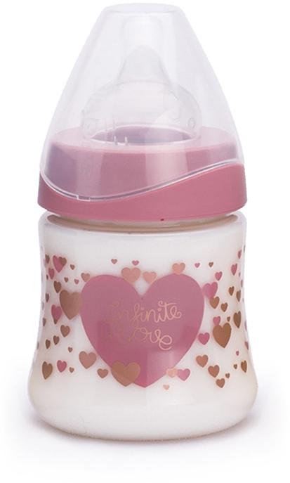 Suavinex Бутылочка Haute Couture с силиконовой соской цвет розовый 150 мл бутылочки для кормления suavinex бутылка suavinex 150мл haute couture от 0мес с анатомич силиконовой соской