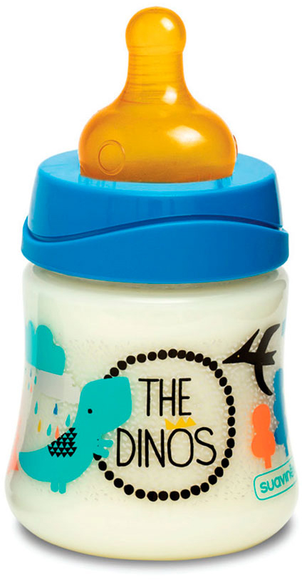 Suavinex Бутылочка 3потока от 0 месяцев с латексной соской цвет синий 150 мл