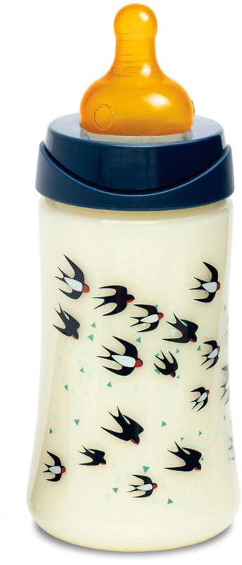 Suavinex Бутылочка 3потока от 0 месяцев с латексной соской цвет синий 270 мл