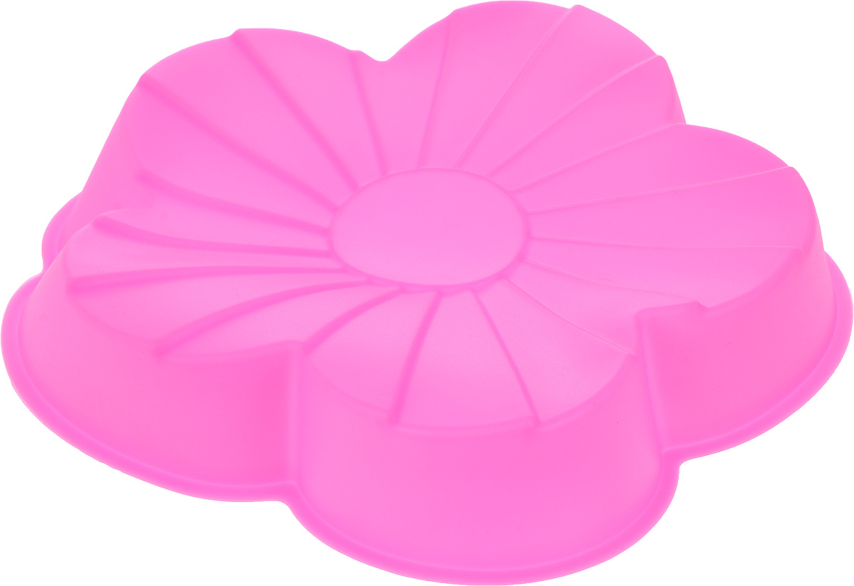 Форма для выпечки Доляна Цветик, силиконовая, цвет: розовый, 20 х 20 х 4,5 см114015_розовыйФорма Доляна Цветик, выполненная из силикона, будет отличным выбором для всех любителей домашней выпечки. Силиконовые формы для выпечки имеют множество преимуществ по сравнению с традиционными металлическими формами и противнями. Нет необходимости смазывать форму маслом. Форма быстро нагревается, равномерно пропекает, не допускает подгорания выпечки с краев или снизу.Вынимать продукты из формы очень легко. Слегка выверните края формы или оттяните в сторону, и ваша выпечка легко выскользнет из формы.Материал устойчив к фруктовым кислотам, не ржавеет, на нем не образуются пятна.Форма может быть использована в духовках и микроволновых печах (выдерживает температуру от -40°С до +250°С), также ее можно помещать в морозильную камеру и холодильник. Можно мыть в посудомоечной машине.Размер формы: 20 х 20 х 4,5 см.