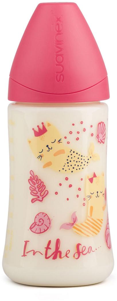 Suavinex Бутылочка от 0 месяцев с силиконовой соской цвет розовый 270 мл suavinex бутылочка от 0 месяцев с силиконовой соской цвет розовый 270 мл 3800055