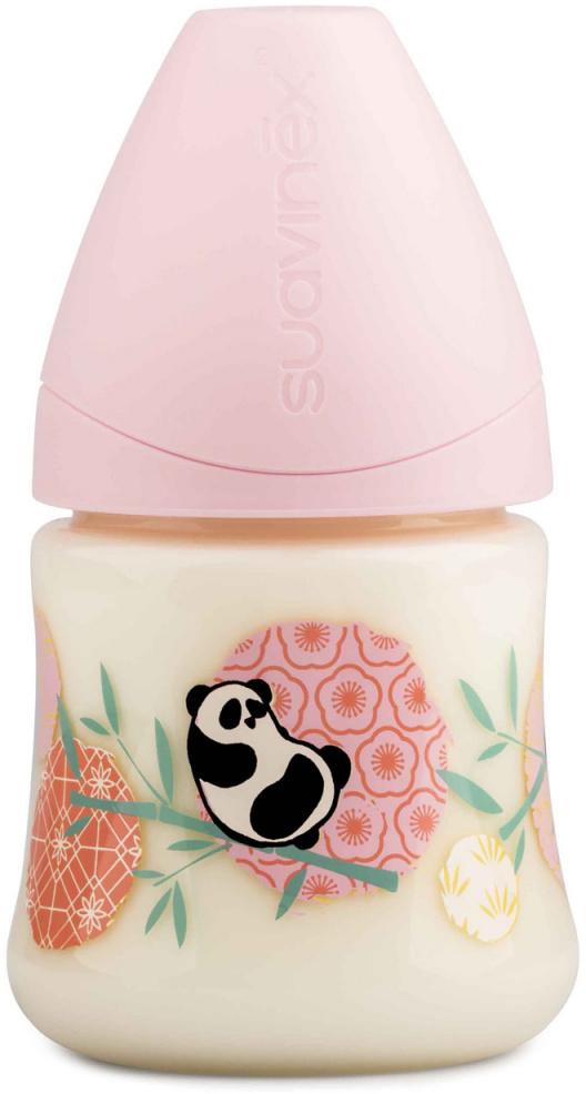 Suavinex Бутылочка от 0 месяцев с силиконовой соской цвет розовый 150 мл 3800141 панда suavinex бутылочка от 0 месяцев с силиконовой соской цвет розовый 270 мл 3800055