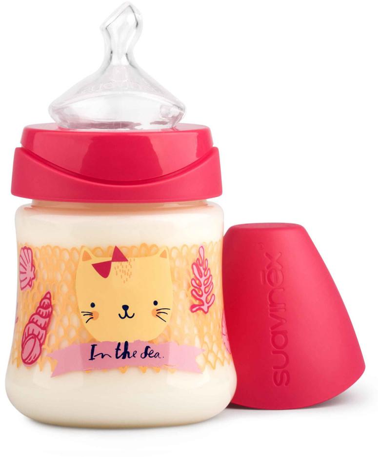 Suavinex Бутылочка от 0 месяцев с силиконовой соской цвет розовый 150 мл suavinex бутылочка от 0 месяцев с силиконовой соской цвет розовый 270 мл 3800055