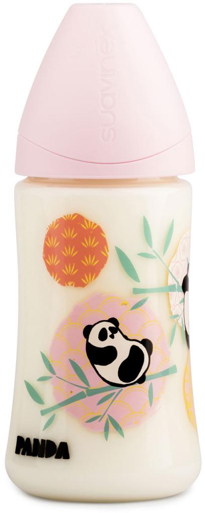 Suavinex Бутылочка от 0 месяцев с силиконовой соской цвет розовый 270 мл 3800142 панда suavinex бутылочка от 0 месяцев с силиконовой соской цвет розовый 270 мл 3800055