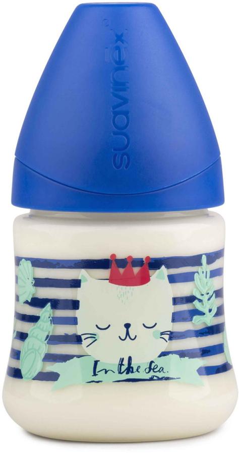 Suavinex Бутылочка от 0 месяцев с силиконовой соской цвет синий 150 мл 3800141