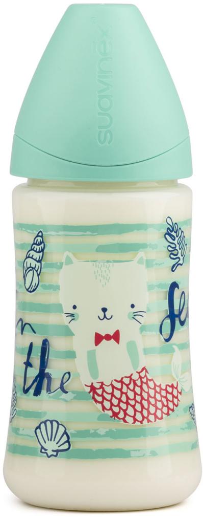 Suavinex Бутылочка от 0 месяцев с силиконовой соской цвет зеленый 270 мл suavinex бутылочка от 0 месяцев с силиконовой соской цвет розовый 270 мл 3800055