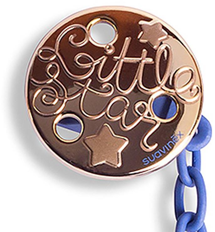 купить Suavinex Держатель соски-пустышки Haute Couture с зажимом цвет синий по цене 548 рублей
