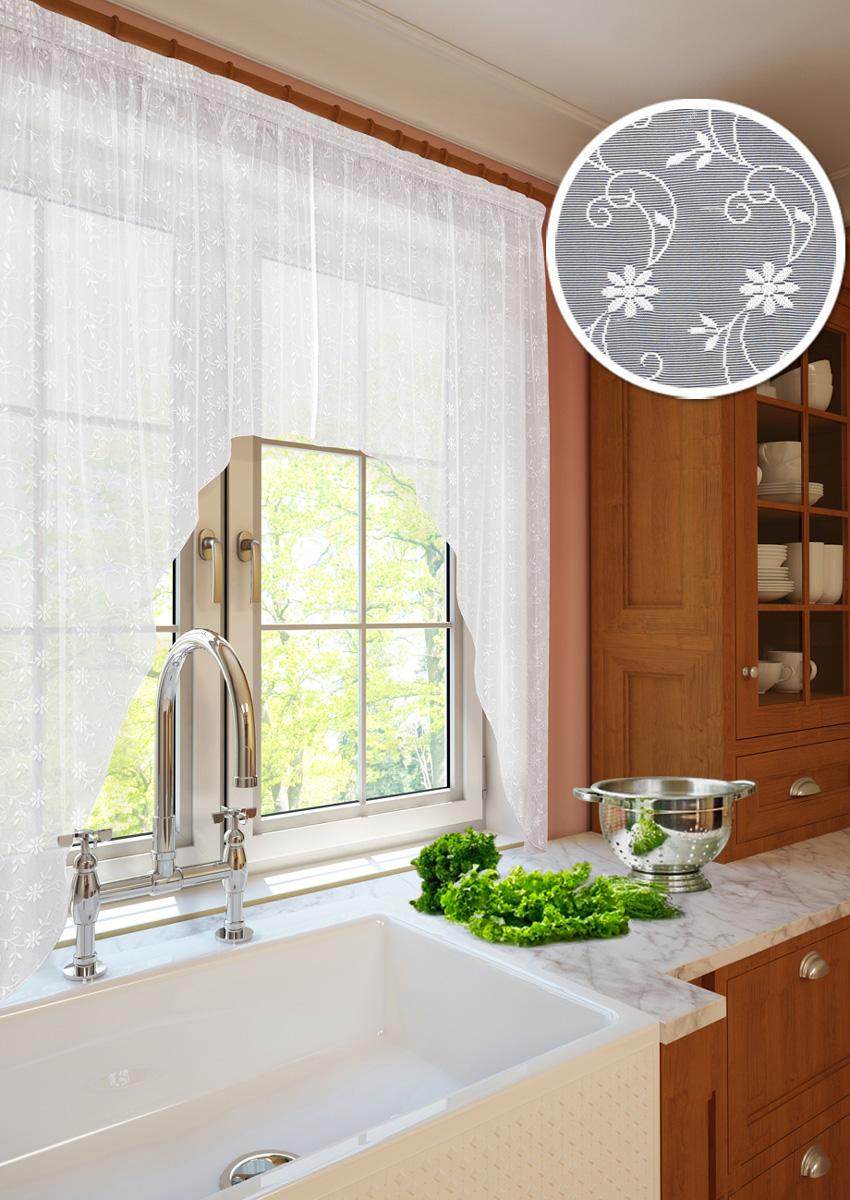 Тюль для кухни KauffOrt Монро, на ленте, ширина 270 см, высота 175 см3111233115Прекрасное и оригинальнейшее украшение для окон.Штора в виде арки выполнена из кружевной сетки (100% полиэстер). Изделие имеет шов по середине, состоит из двух частей.Тюль Монро отшивается на шторной ленте, которая поможет красиво и равномерно задрапировать верх.Уважаемые клиенты!Оттенок изделия может отличаться от представленного на сайте в силу особенностей цветопередачи фототехники и вашего монитора.