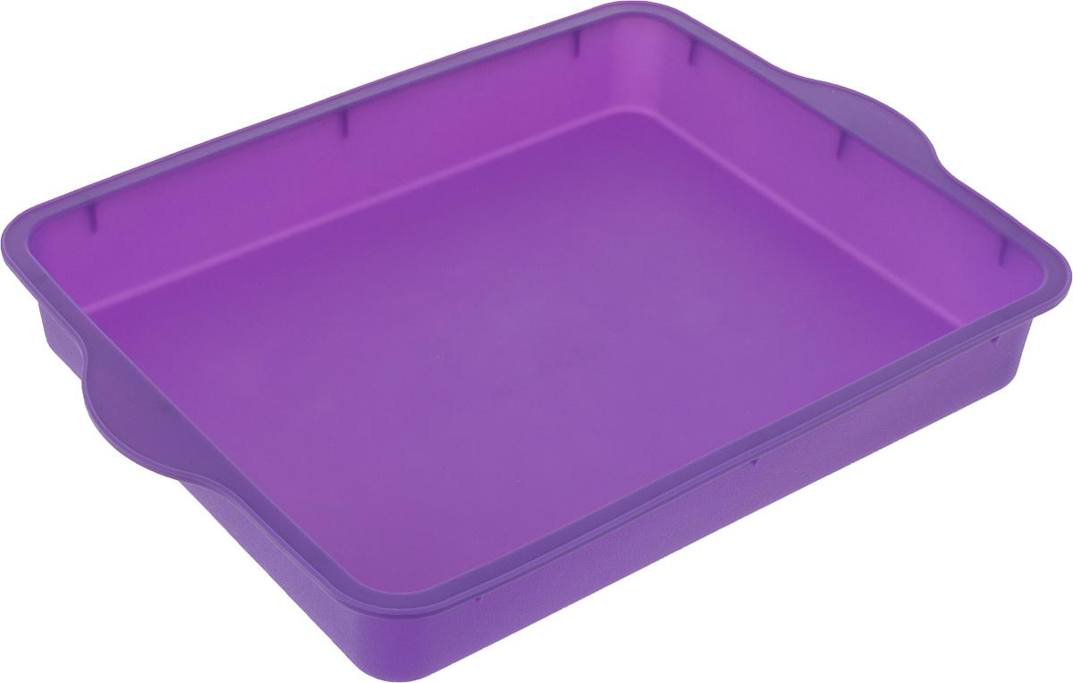 """Форма для выпечки Доляна """"Прямоугольная"""", цвет: фиолетовый, 30 х 22 см"""