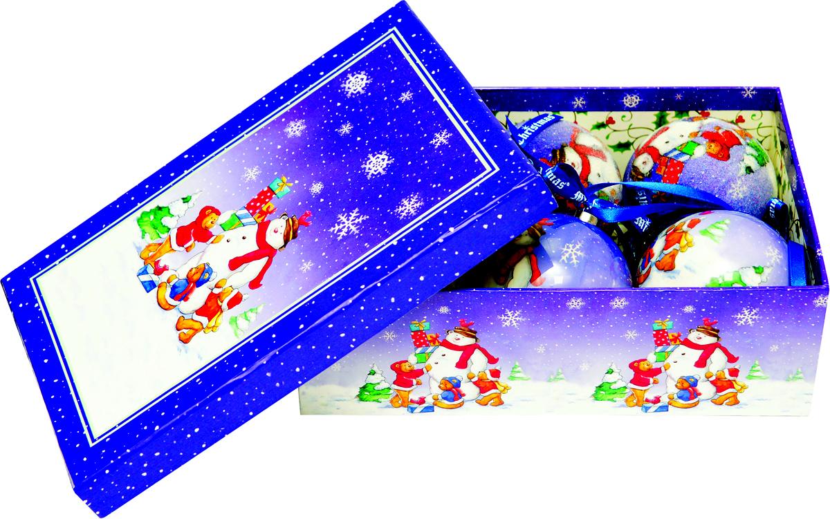 Набор новогодних подвесных украшений Mister Christmas  Папье-маше , диаметр 7,5 см, 6 шт. PM-14-6 -  Украшения