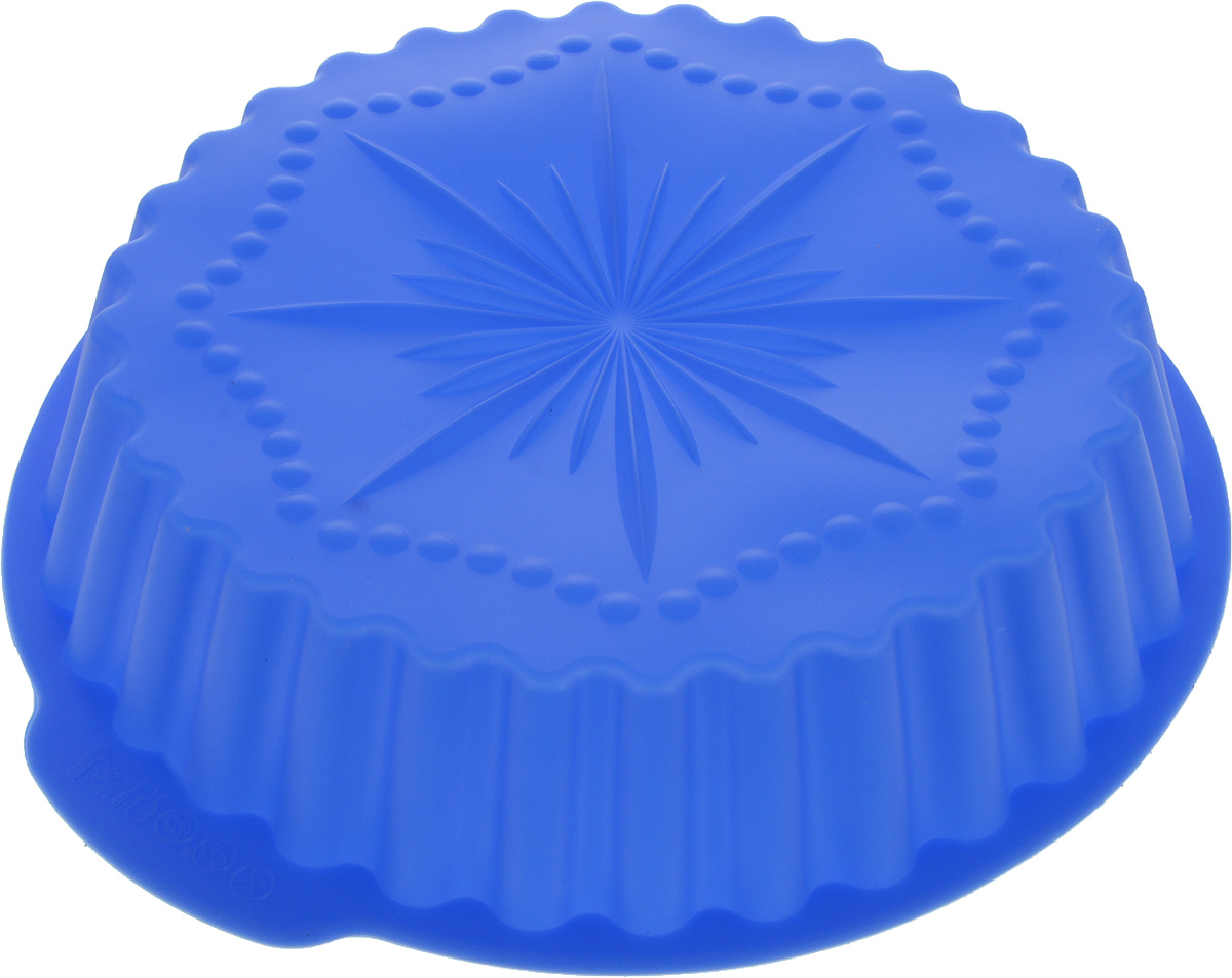 Форма для выпечки Доляна Звезда, цвет: синий, 29 х 28 х 5,5 см1158543_синийФорма для выпечки Доляна Звезда выполнена из силикона,который выдерживает температуру от -40 до +250°С. Материалдолговечный, гипоаллергенный, не впитывает запахи, легкомоется. В такой форме выпечка не пригорает, сохраняетнужную форму и легко извлекается.Форма для выпечки из силикона - современное решение дляпрактичных хозяек. Оригинальный предмет позволяет готовитьв духовке вкуснейшую выпечку.Высокая термостойкость позволяет применять форму в духовыхшкафах и морозильных камерах. Силикон пригоден дляпосудомоечных машин.