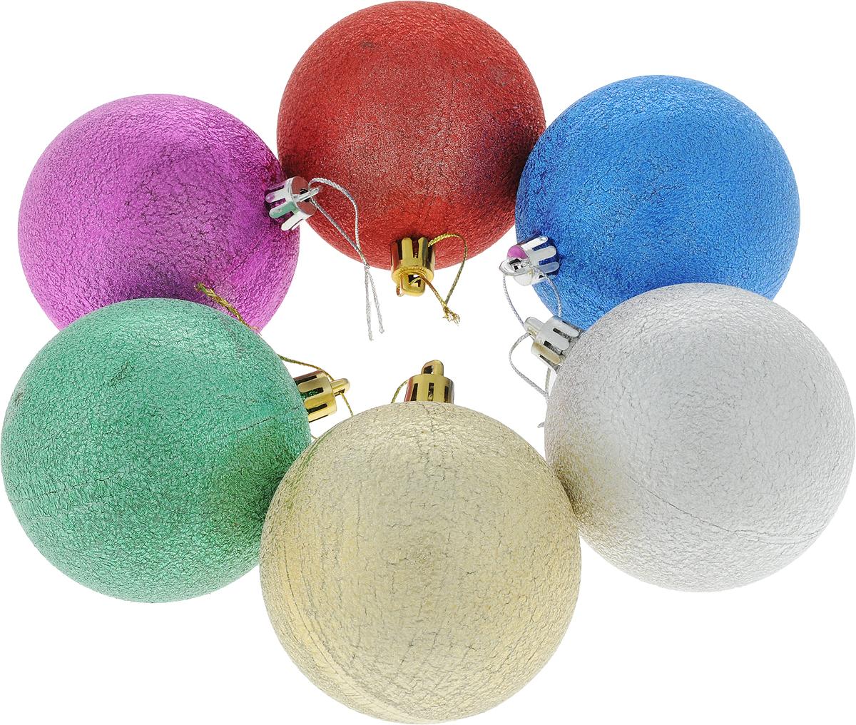 Набор новогодних подвесных украшений Sima-land Сусальный, диаметр 8 см, 6 шт2178145