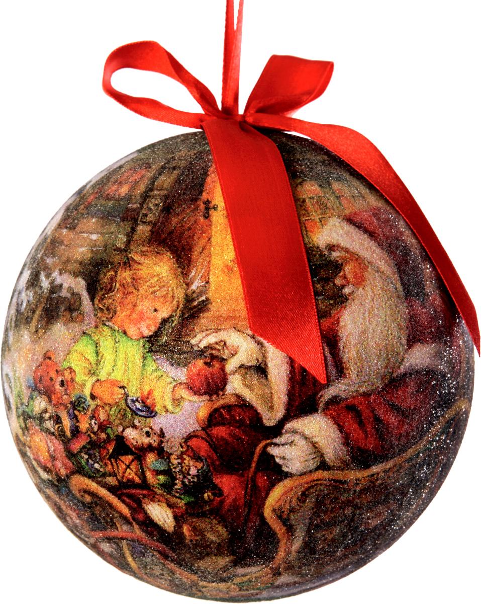 Шар новогодний Mister Christmas Папье-маше, диаметр 15 см, PM-20-150CPM-20-150CПодвесное украшение Mister Christmas Папье-маше выполнено вручную из бумаги и покрытомелкой пластиковой крошкой. Такой шар очень легкий, но в то же время удивительно прочный. Насоздание одной такой игрушки уходит несколько дней. И в результате получается настоящеепроизведение искусства! Изделие оснащено атласной ленточкой с логотипом бренда MisterChristmas для подвешивания.Такое украшение станет превосходным подарком к Новому году, а также дополнит коллекциюоригинальных новогодних елочных игрушек.