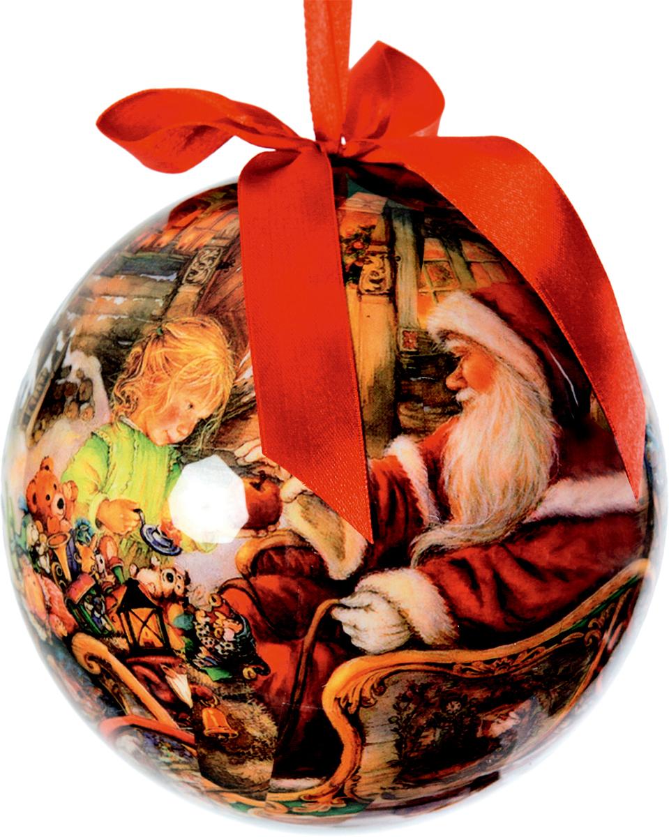 Шар новогодний Mister Christmas Папье-маше, диаметр 15 см. PM-21-150CPM-21-150CПодвесное украшение Mister Christmas Папье-маше выполнено вручную из бумаги и покрыто мелкой пластиковой крошкой. Такой шар очень легкий, но в то же время удивительно прочный. На создание одной такой игрушки уходит несколько дней. И в результате получается настоящее произведение искусства! Изделие оснащено атласной ленточкой с логотипом бренда Mister Christmas для подвешивания. Такое украшение станет превосходным подарком к Новому году, а также дополнит коллекцию оригинальных новогодних елочных игрушек.