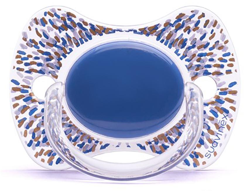 Suavinex Пустышка Haute Couture от 4 месяцев физиологическая силиконовая цвет голубой статуэтка haute couture статуэтка месяц sr 640
