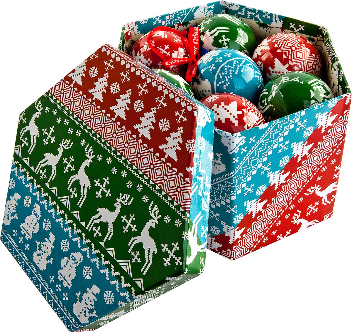 Набор новогодних подвесных украшений Mister Christmas  Папье-маше , диаметр 6 см, 14 шт. PM-43-14 -  Украшения