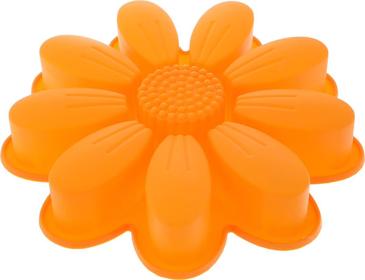 Форма для выпечки Доляна Семицветик, цвет: оранжевый, 27 х 5 см, 10 ячеек762798_оранжевыйФорма для выпечки из силикона — современное решение для практичных и радушных хозяек. Оригинальный предмет позволяет готовить в духовке любимые блюда из мяса, рыбы, птицы и овощей, а также вкуснейшую выпечку.Почему это изделие должно быть на кухне?- блюдо сохраняет нужную форму и легко отделяется от стенок после приготовления;- высокая термостойкость (от –40 до 230 °C) позволяет применять форму в духовых шкафах и морозильных камерах;- небольшая масса делает эксплуатацию предмета простой даже для хрупкой женщины;- силикон пригоден для посудомоечных машин;- высокопрочный материал делает форму долговечным инструментом;- при хранении предмет занимает мало места.Советы по использованию формыПеред первым применением промойте предмет тёплой водой.В процессе приготовления используйте кухонный инструмент из дерева, пластика или силикона.Перед извлечением блюда из силиконовой формы дайте ему немного остыть, осторожно отогните края предмета.Готовьте с удовольствием!