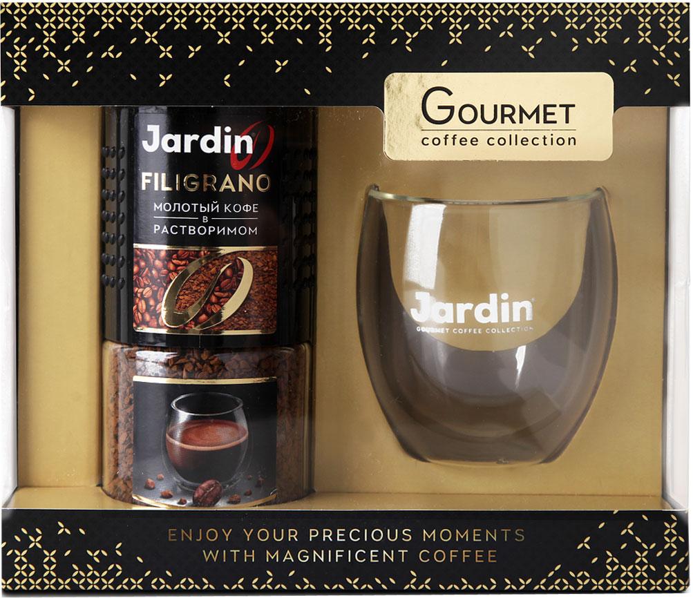 Jardin Подарочный набор молотый кофе в растворимом с подарком, 95 г jardin sumatra mandheling кофе молотый 250 г
